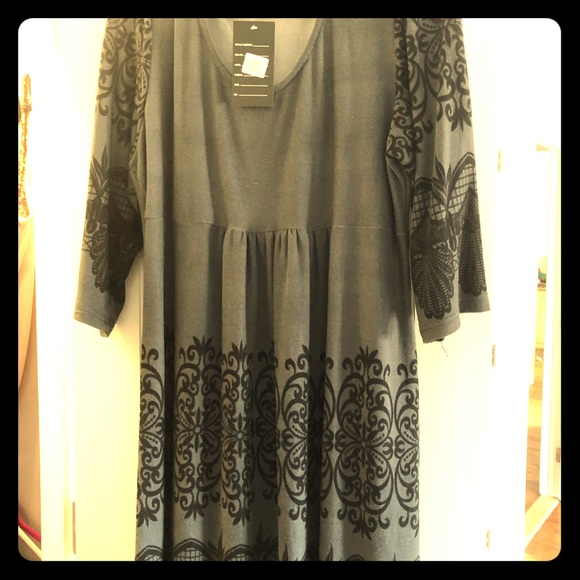Other - NWT Black/Charcoal Tunic Dress ~ Size XXL